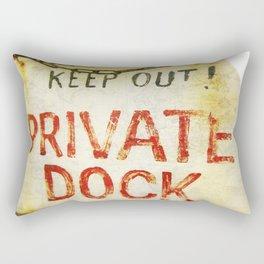 """""""Private Dock"""" Rectangular Pillow"""