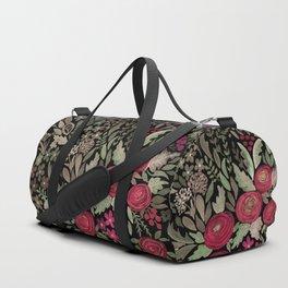 Watercolor . Night garden . Duffle Bag