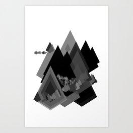 Mountains Inside Art Print
