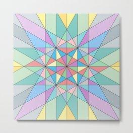 Colorful Pastel Mosaic Triangle Star Metal Print