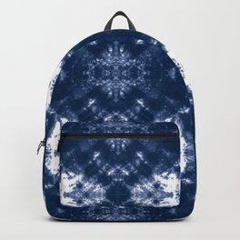 Shibori Tie Dye 1 Indigo Blue Backpack