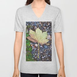 Fallen leaf 1 Unisex V-Neck
