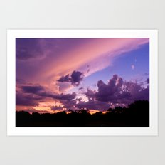 candy skys. Art Print