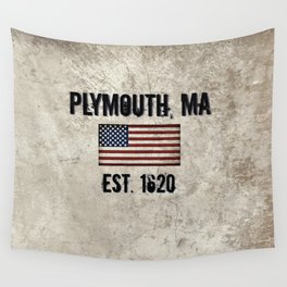Plymouth, MA.  Established 1620 Wall Tapestry