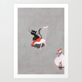 Puss In Boot Art Print
