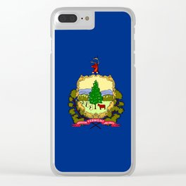 flag vermont,america,usa,Green Mountain,Vermonter, New England,Burlington,Montpelier,Rutland,Barre Clear iPhone Case