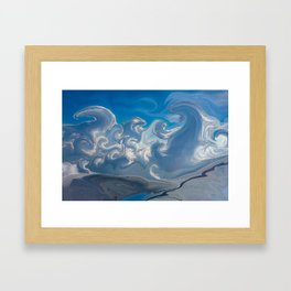 Magical Mystical Clouds Over India Framed Art Print