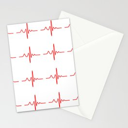 New Neck Gaiter Nurse Design EKG Heart Monitor Neck Gator Stationery Cards