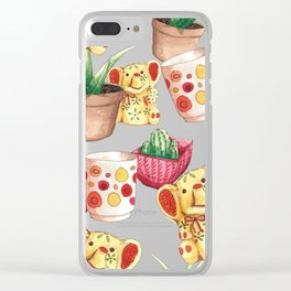 All the Cute Stuff Pattern Clear iPhone Case