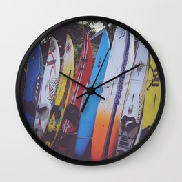 Surf-board-s up Wall Clock