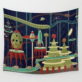 Fantastic Launch Station Wall Tapestry