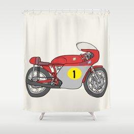 MV Agusta GP 500 Shower Curtain