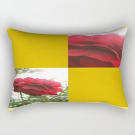 Red Rose with Light 1 Blank Q7F0 Rectangular Pillow