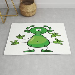 The happy extraterrestrial Rug