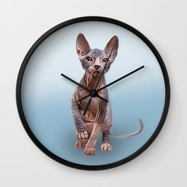 Drawing Sphynx kitten 5 Wall Clock