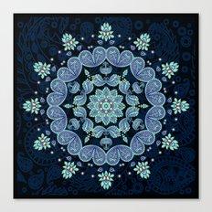 Pastel Paisley Kaleidoscope Canvas Print