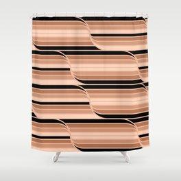 Geo Stripes - Black & Neutral Shower Curtain