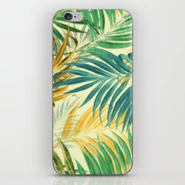 Palm Leaves in Yellow iPhone Skin