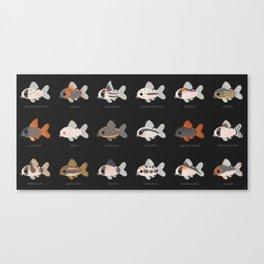 Corydoras! - black Canvas Print
