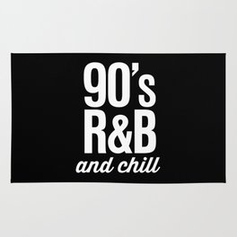 90's R&B and Chill Vintage Retro Typography Rug