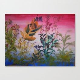 plant sillhoutte Canvas Print