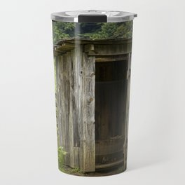 Old Outhouse on a Farm in the Smokey Mountains Travel Mug
