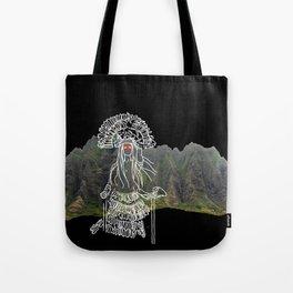 rocky mountain woman Tote Bag