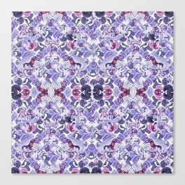 Horse Print Purple Pastel Canvas Print