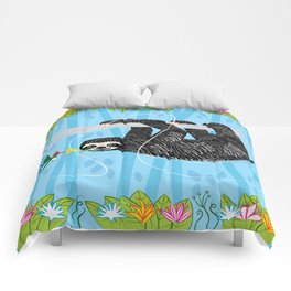 The Sloth and The Hummingbird Comforters