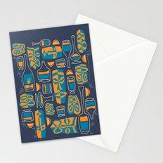 Tiki/Cocktail Pattern Stationery Cards