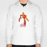 iron man Hoodies featuring Iron Man by Jon Hernandez