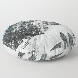 Mount Everest, 1952 (Vintage Movie Poster) Floor Pillow