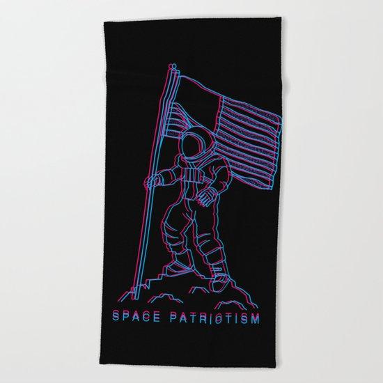 Patriotic Spaceman Beach Towel
