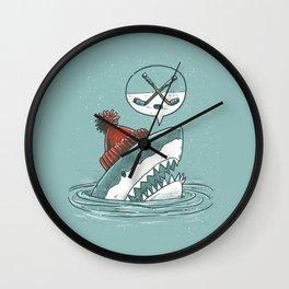 Hockey Shark Wall Clock