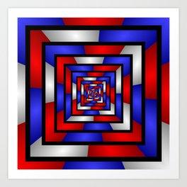 Colorful Tunnel 3 Digital Art Graphic Art Print