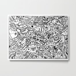Somewhere Together black and white Metal Print