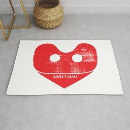 A Rower's Heart Rug