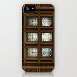 Stained glass on the ceiling iPhone Case