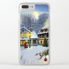 Winter time ... Christmas time Clear iPhone Case