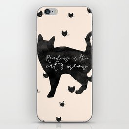 Reading Is The Cat's Meow iPhone Skin