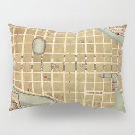 Map Of Beaufort 1865 Pillow Sham