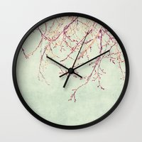 chinese Wall Clocks featuring Chinese Spring by Katayoon Photography