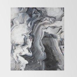 Marble B/W/G Throw Blanket