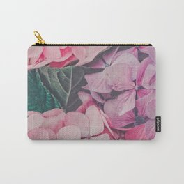 Pastel pink hydrangea Carry-All Pouch