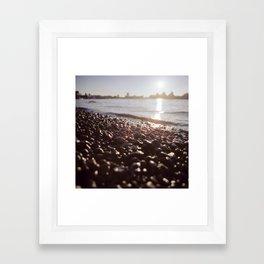 Greenwich Beach By Evening Framed Art Print