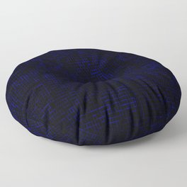 Dark Blue Pixels Floor Pillow