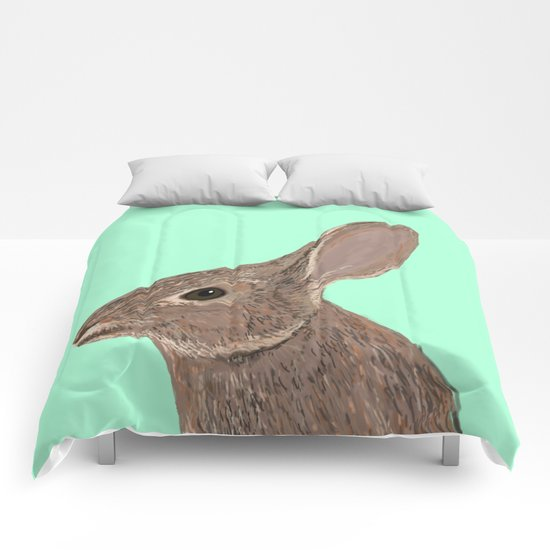 Roger - Bunny, Rabbit, Pet, Cute, Easter, Pet Rabbit, Pet Friendly, Bunny Cell Phone Case Comforters