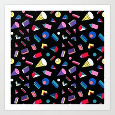 3D Shapes - 90's Pattern Art Print