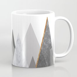 Marble Gray Copper Black and White Mountains Coffee Mug