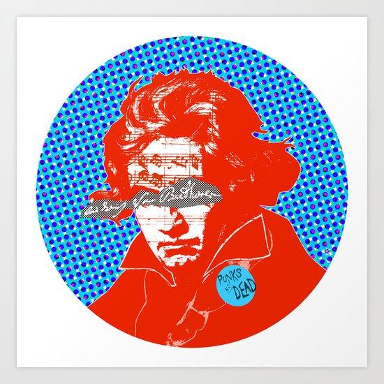 Ludwig van Beethoven 12 Art Print